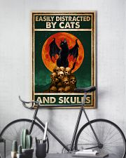 Cat Easily Distracted By Cats And Skull 16x24 Poster lifestyle-poster-7