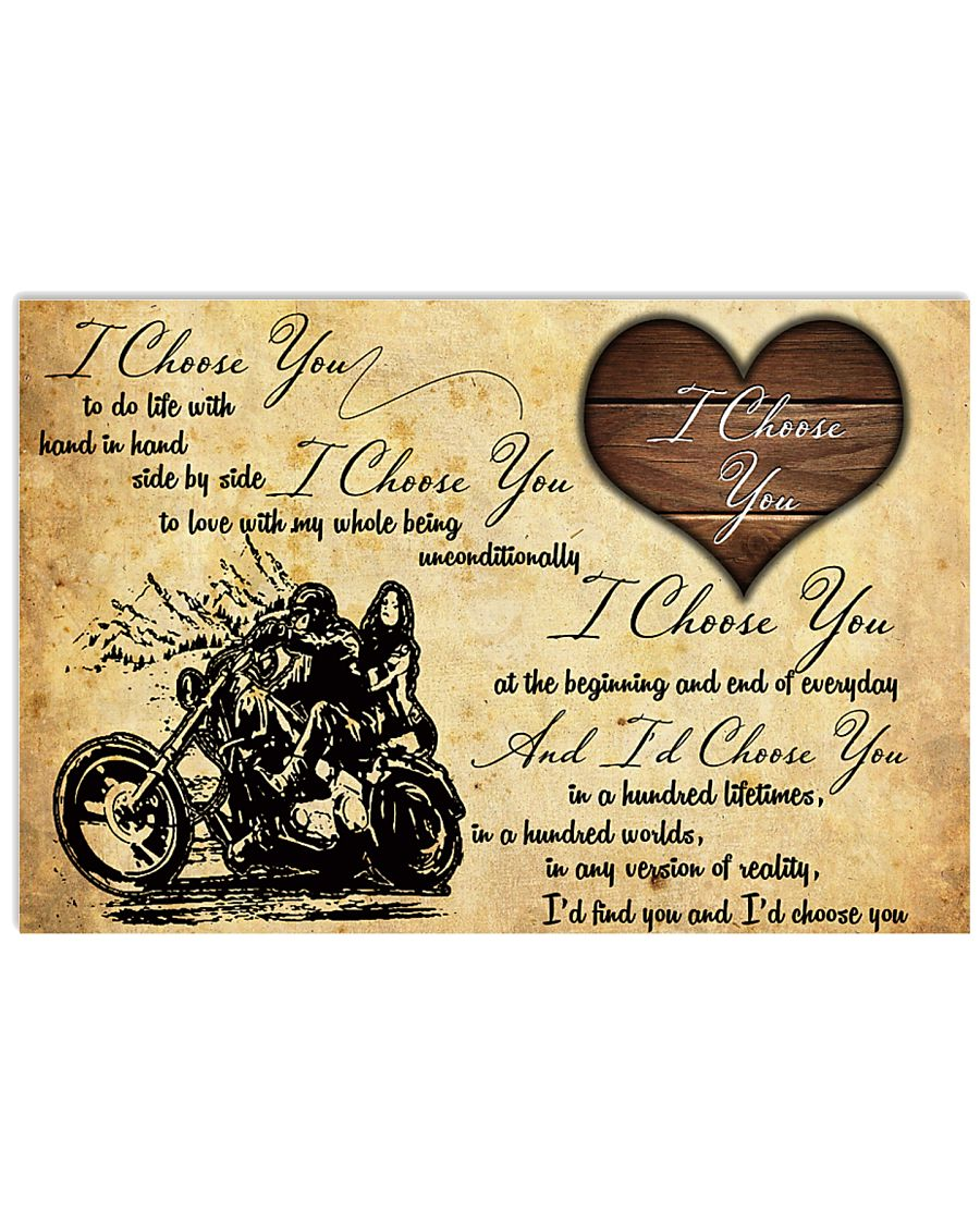 Motorcycle I Choose You Poster 24x16 Poster