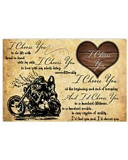 Motorcycle I Choose You Poster 24x16 Poster front
