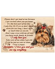 Yorkshire Terrier Remember I Love You 17x11 Poster front