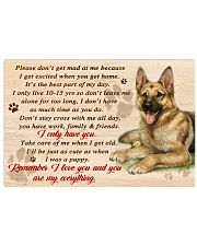 German Shepherd Remember I Love You  17x11 Poster front