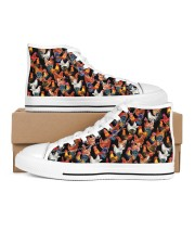 Chicken Print Pattern Shoes Men's High Top White Shoes thumbnail