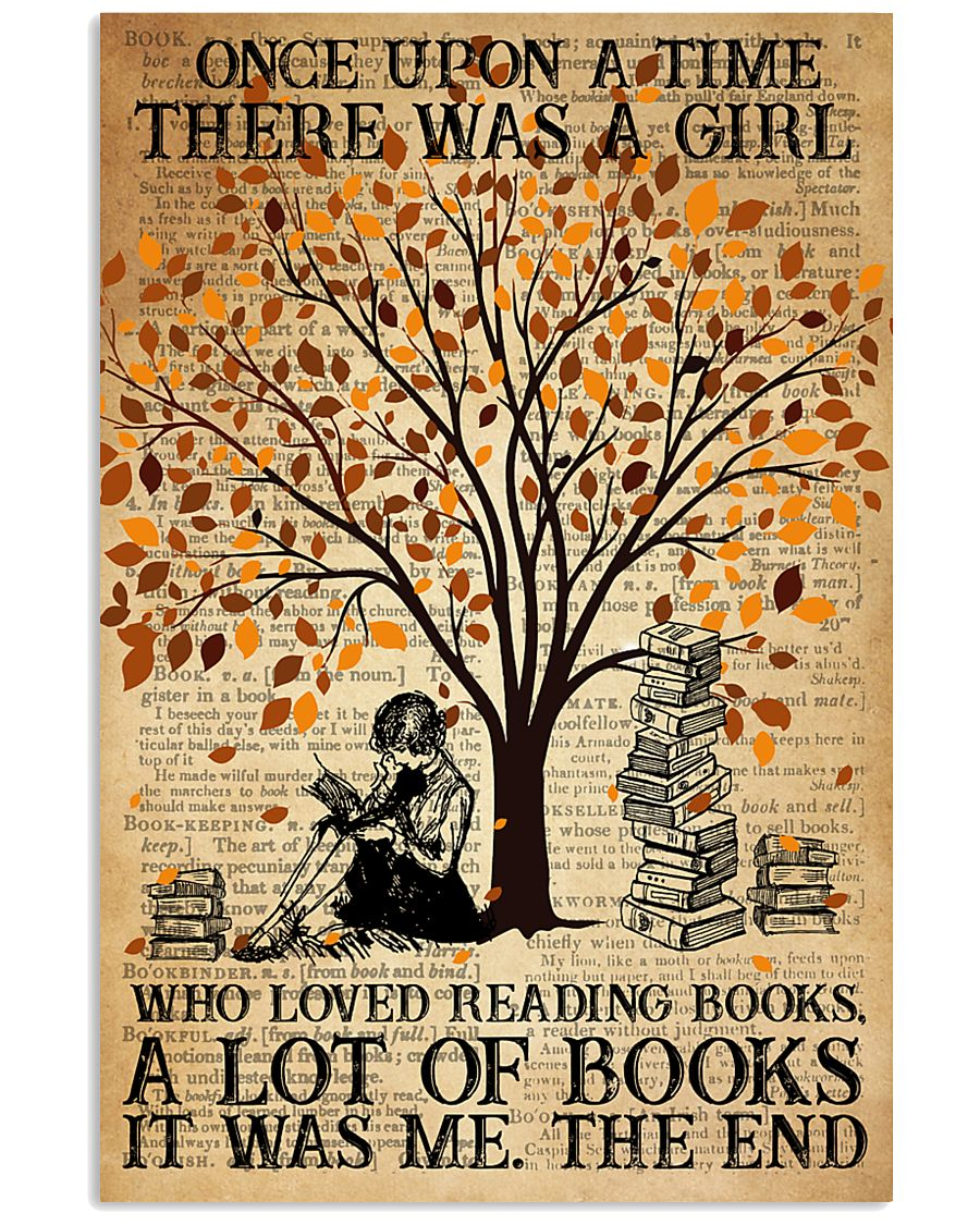 Book There Was A Girl Loving Books 16x24 Poster