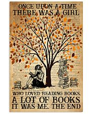 Book There Was A Girl Loving Books 16x24 Poster front
