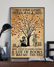 Book There Was A Girl Loving Books 16x24 Poster lifestyle-poster-2