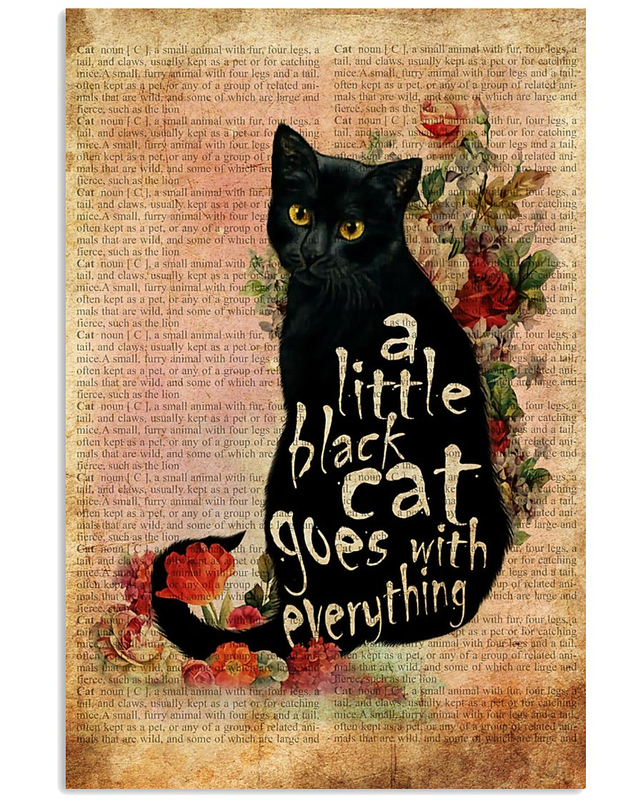 A Little Cat Goes With Everything 16x24 Poster