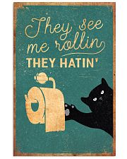 Cat They See Me Rolling They Hating 16x24 Poster front