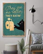 Cat They See Me Rolling They Hating 16x24 Poster lifestyle-poster-1
