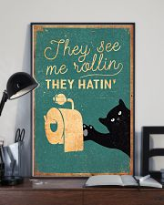 Cat They See Me Rolling They Hating 16x24 Poster lifestyle-poster-2