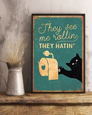 Cat They See Me Rolling They Hating 16x24 Poster lifestyle-poster-3