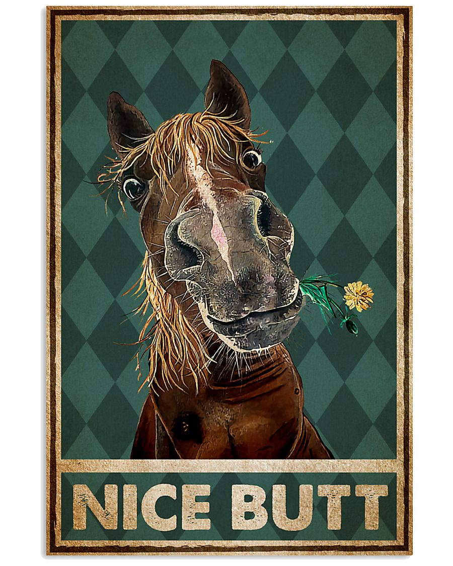 Horse Nice Butt Poster 11x17 Poster