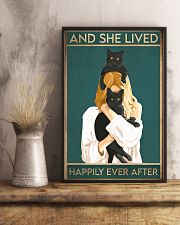 Cat And She Lived Happily Ever After02 16x24 Poster lifestyle-poster-3
