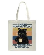 Cat I Hate Morning People Tote Bag tile