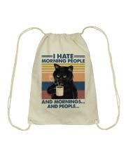 Cat I Hate Morning People Drawstring Bag tile