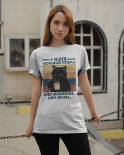Cat I Hate Morning People Classic T-Shirt apparel-classic-tshirt-lifestyle-19