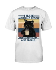 Cat I Hate Morning People Classic T-Shirt front