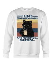 Cat I Hate Morning People Crewneck Sweatshirt tile