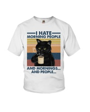 Cat I Hate Morning People Youth T-Shirt tile