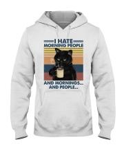 Cat I Hate Morning People Hooded Sweatshirt tile