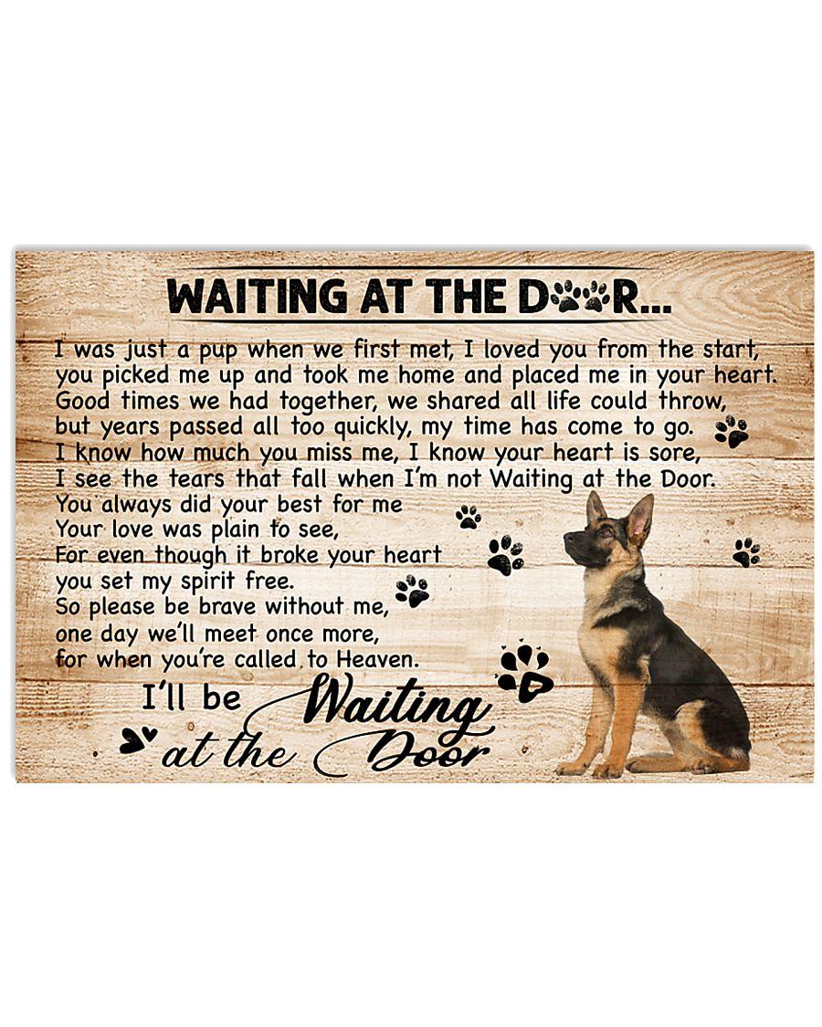 German Shepherd Waiting At The Door 17x11 Poster