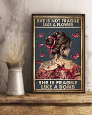 Tattoo She Is Not Fragile Tattoos 11x17 Poster lifestyle-poster-3