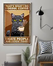 Cat That's What I Do I Drink Coffee 16x24 Poster lifestyle-poster-1