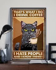 Cat That's What I Do I Drink Coffee 16x24 Poster lifestyle-poster-2