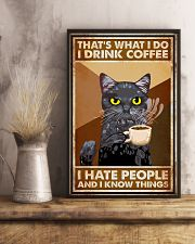Cat That's What I Do I Drink Coffee 16x24 Poster lifestyle-poster-3