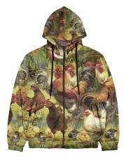 Chicken 3D Beauty Men's All Over Print Full Zip Hoodie thumbnail