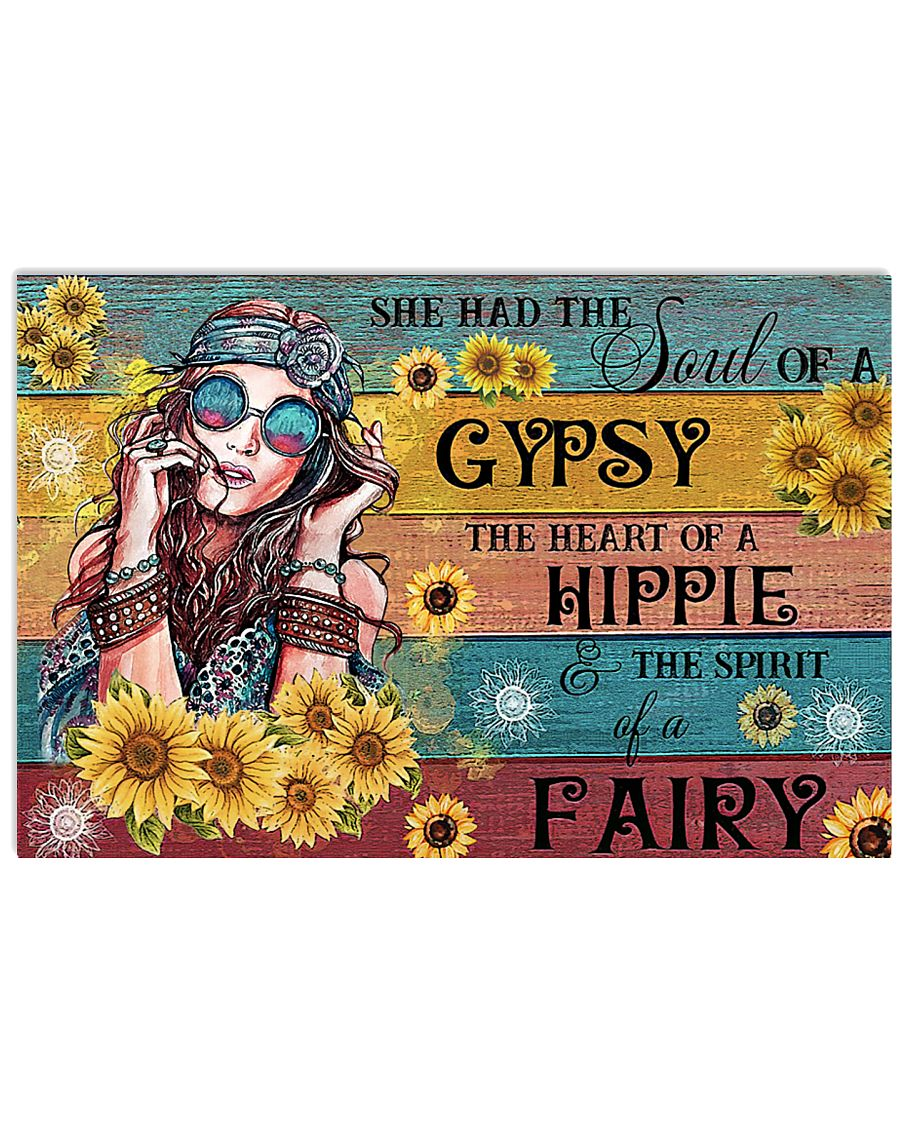 Hippie She Has The Soul Of Gypsy 17x11 Poster