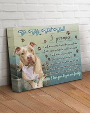 Pitbull I Promise 14x11 Gallery Wrapped Canvas Prints aos-canvas-pgw-14x11-lifestyle-front-14