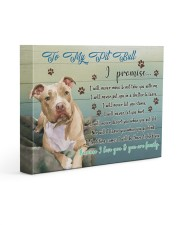 Pitbull I Promise 14x11 Gallery Wrapped Canvas Prints front