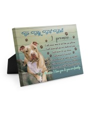 Pitbull I Promise 10x8 Easel-Back Gallery Wrapped Canvas thumbnail