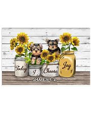Yorkshire Terrier Today I Choose Joy 17x11 Poster front