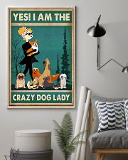Dogs Yes I am Crazy Dog Lady 11x17 Poster lifestyle-poster-1
