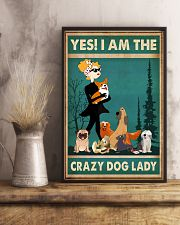 Dogs Yes I am Crazy Dog Lady 11x17 Poster lifestyle-poster-3
