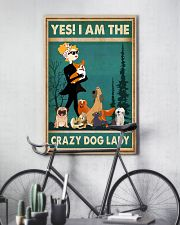 Dogs Yes I am Crazy Dog Lady 11x17 Poster lifestyle-poster-7