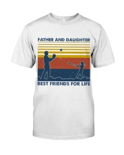 Softball Father And Daughter Best Friends Classic T-Shirt front