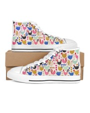 Chicken Colorful Chickens Shoes Women's High Top White Shoes inside-left-outside-left