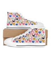 Chicken Colorful Chickens Shoes Women's High Top White Shoes outside-right-inside-right