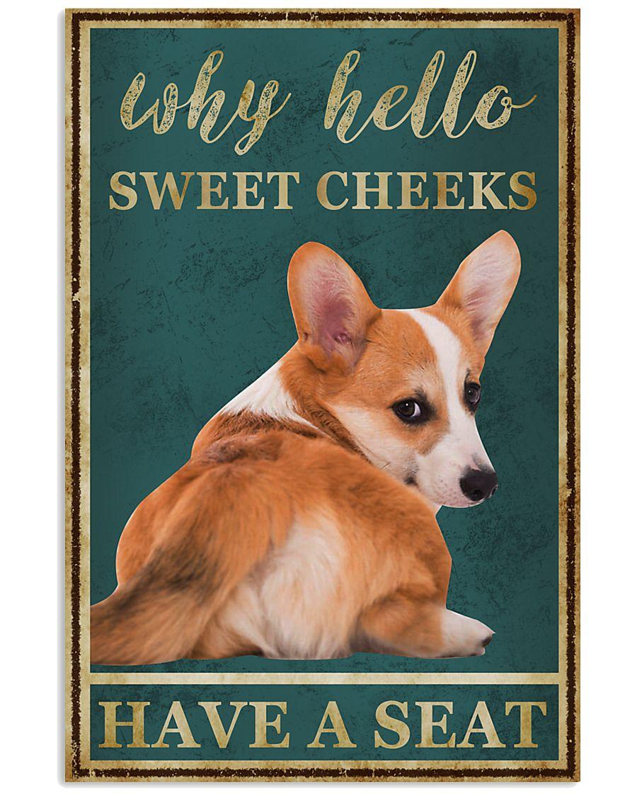 CORGI WHY HELLO SWEET CHEEKS 11x17 Poster