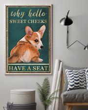 CORGI WHY HELLO SWEET CHEEKS 11x17 Poster lifestyle-poster-1