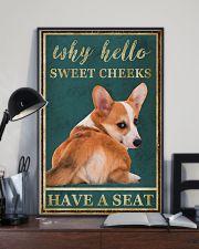 CORGI WHY HELLO SWEET CHEEKS 11x17 Poster lifestyle-poster-2