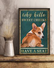 CORGI WHY HELLO SWEET CHEEKS 11x17 Poster lifestyle-poster-3