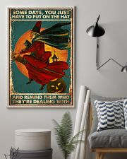 Cat Some Days You Just Have To Put On The Hat 16x24 Poster lifestyle-poster-1