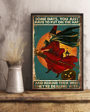 Cat Some Days You Just Have To Put On The Hat 16x24 Poster lifestyle-poster-3