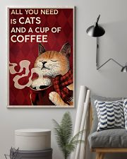 CAT ALL YOU NEED IS CATS AND A CUP OF COFFEE 16x24 Poster lifestyle-poster-1