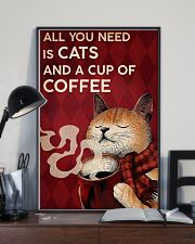 CAT ALL YOU NEED IS CATS AND A CUP OF COFFEE 16x24 Poster lifestyle-poster-2