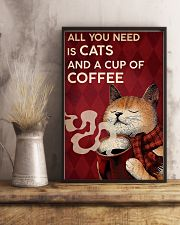 CAT ALL YOU NEED IS CATS AND A CUP OF COFFEE 16x24 Poster lifestyle-poster-3
