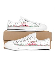 Flamingos Happy Together Men's Low Top White Shoes tile